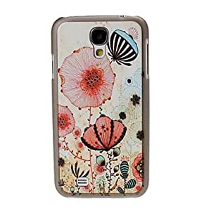 Colorful Flower Pattern Black Hard Case Cover for Samsung Galaxy S4 i9500