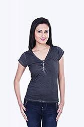 Skatti Womens Cotton Long Sleeve Top (Sk_136_15Bgirl_M _Black _Medium)