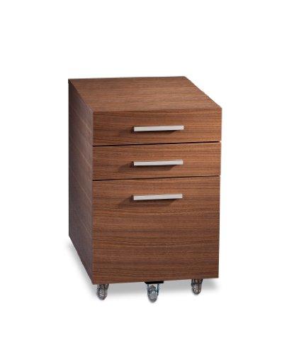 Bdi Sequel Low Mobile Pedestal6007 - Walnut front-988038