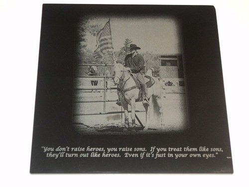 12 x 12 Marble Pet Dog Cat Memorial Laser Engraved