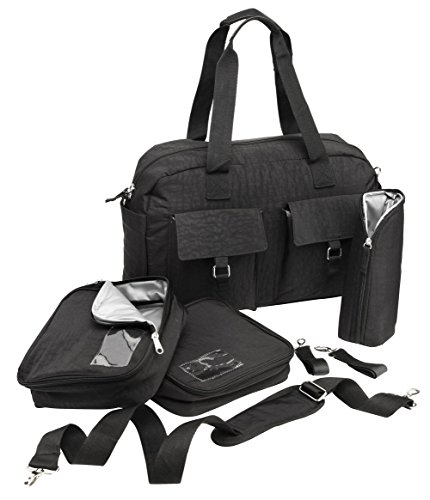 Cabin Max Baby Nappy Diaper Changing Bag with Insulated Organization Pods (Black)