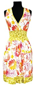 asd Living Loretta Apron with Scattered Poppy Design by Butcher Aprons