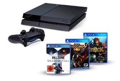 PlayStation 4 Konsole mit Knack, inFamous, Killzone