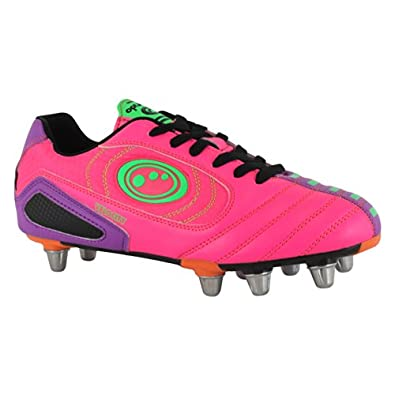 Optimum Mens Velocity Rugby Boots RBVPPS7 Pink/Purple 7 UK, 40 EU