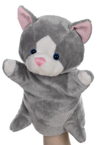 Heunec 391970 Besito - Marioneta de peluche, diseño de gato, color gris