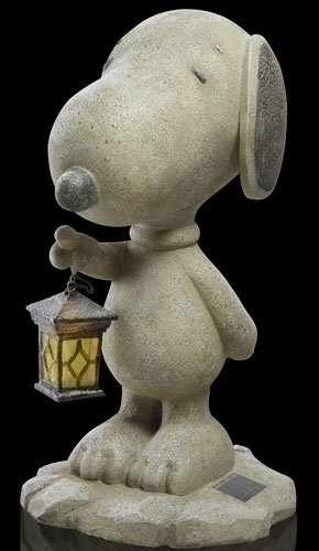 20 Quot Peanuts Standing Snoopy With Solar Powered Lantern