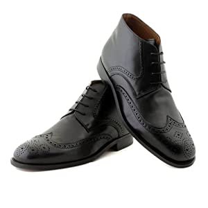 NOHARM Black Brogue Vegan Boots NOHR1966