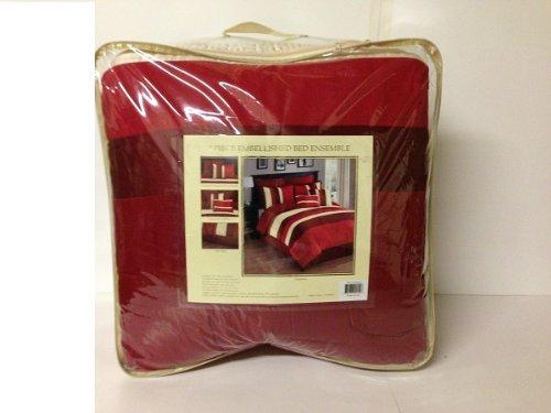 Sunham Savoy 8 Piece Queen Comforter Red front-879841