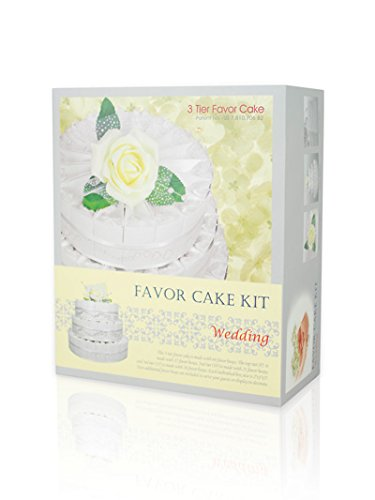 3 Tier Wedding Gift Box : Gift Boutique 3 Tier Wedding Favor Kit Cake! Includes 66 Favor Boxes ...