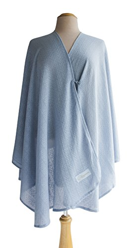 Primo Bebitza Textured Knit Nursing Cover, Blue