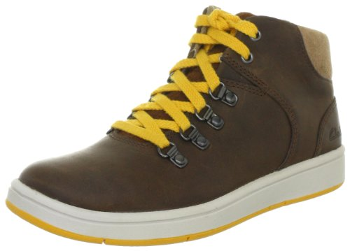 Clarks Rayan Hiker 203520187, Sneaker ragazzo, Marrone (Braun (Brown Leather)), 29.5