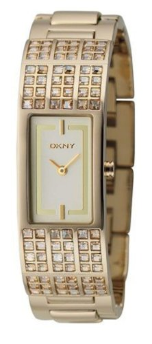 DKNY NY4416 - Reloj analógico de cuarzo para hombre con correa de acero inoxidable, color plateado