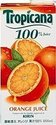 トロピカーナ 100%ジュース オレンジ 1L×6本