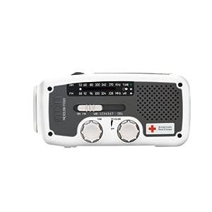 Etón American Red Cross ARCFR160W Microlink Self-Powered AM/FM/NOAA Weather Radio with Flashlight, <a href=