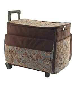 sewing machine tote with wheels