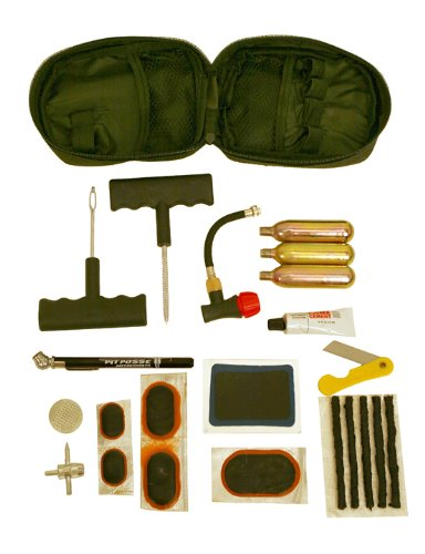Pit Posse PP3167 Tire Puncture Repair Inflation Inflator Tool Kit Motorcycle ATV Quad Dirt Bike (Motorcycle Repair Tire Kit compare prices)