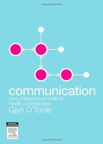 communication skills for health professionals Understand the rationale for communication skills training understand the rationale for the use of role play in communication skills training.