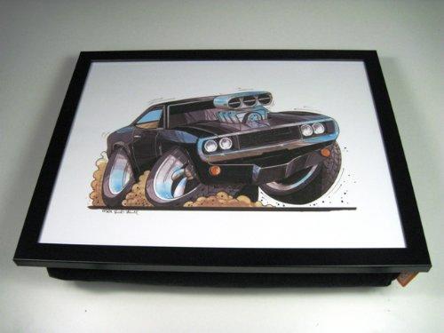 koolart-dodge-charger-car-illustration-caricature-cushion-lap-tray