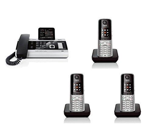 Siemens Gigaset DX600A ISDN SET mit 3x S810H Mobilteil - 3 Anrufbeantworter, Bluetooth® DECT