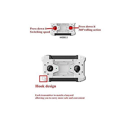 ELENKER-mini-Quadcopter-Drohne-RC-Helikopter-3D-360--Flip-4-Kanal-6-Axen-LED-Licht-Switchable-Controller-Schwarz