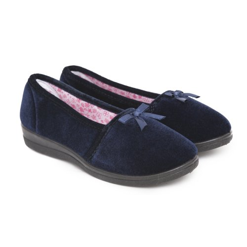 Cheap Womens/Ladies Plain Indoor Footwear/Slippers with Bow (B007FL68WQ)