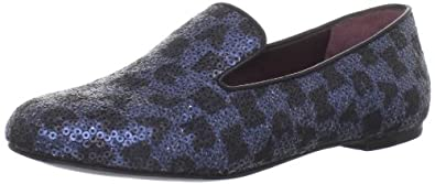 Marc by Marc Jacobs Women's 626074/34 Slip-On Loafer,Black & Ink Pailettes,38.5 EU/38.5-8.5 M US