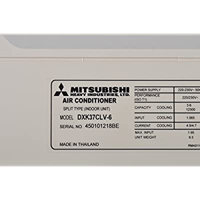 Mitsubishi DXK37CLV-6 1.1 Ton Split Air Conditioner (White)