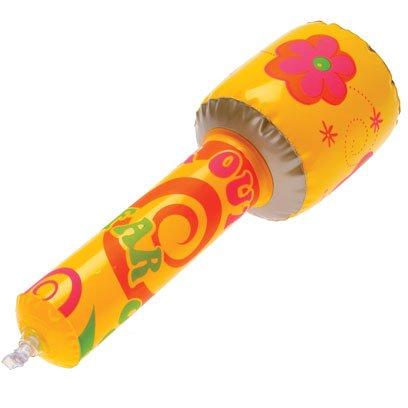 Dozen Inflatable Retro Hippie Theme Play Pretend Microphones