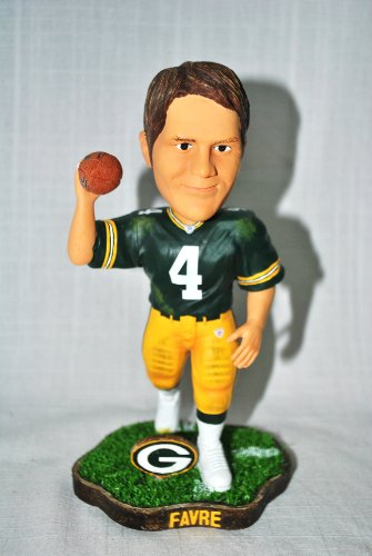 Green bay Packers #7 Brett Favre rare action pose #2 Forever Collectibles NEW IN BOX FOOTBALL BOBBLE HEAD 8&#8243; bobblehead