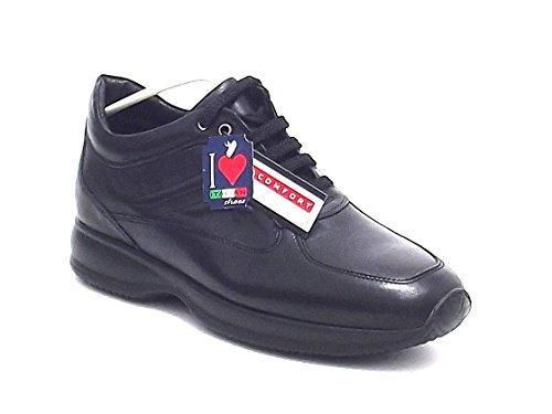 Soldini scarpa uomo, 15820, interactive in pelle, colore nero