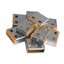 Lindy USB Port Blocker - Pack of 10 - Orange 40463