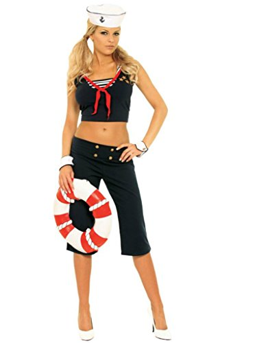 Elegant Moments Womens First Mate Sailor Girl Outfit Fancy Dress Sexy Costume