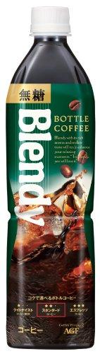 AGF ブレンディボトルコーヒー 無糖 900ml×12本