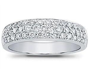 1.50 ct Ladies Round Cut Diamond Anniversary Wedding Band Ring in Platinum in Size 5