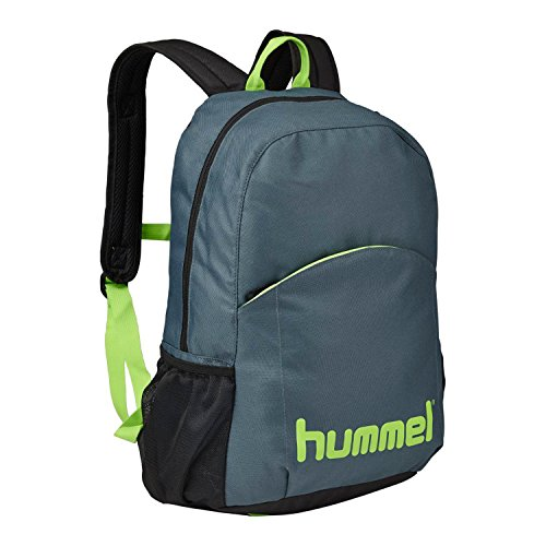 Hummel - Zaino unisex Authentic, Unisex, Zaino, Rucksack AUTHENTIC BACK PACK, Dark Slate/Green Flash, Taglia unica