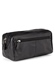 Leather Front Pocket Washbag