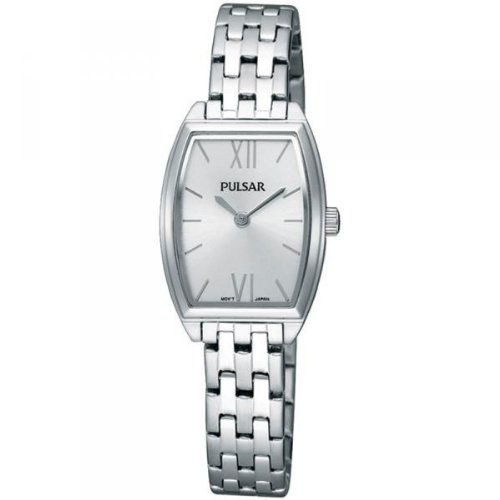 Pulsar by Seiko Ladies Silver Dial Stainless Steel Bracelet Dress Watch PEGE21X1