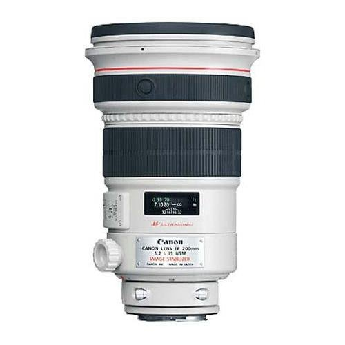 Canon EF 200mm f/2L IS USM IS AF Telephoto Lens U.S.A. Warranty - Bundle With Adjustable Flexible Lens Shade, Cleaning Kit, Don Zeck 3 Lens Cap, F/Canon 200mm f/2.0 USM IS, LensAlign MkII Focus Calibration System, Large Work Mat, 24x42, Color Steel. genuine new canon ef 70 200mm f 2 8l f2 8 l usm telephoto zoom lens