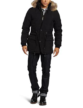 J.C. Rags Men's Structured Jacket, Black, Medium