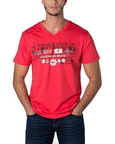 Geographical Norway Camiseta Manga Corta Snht Rojo