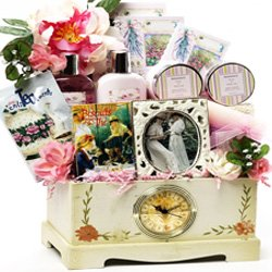 SCHEDULE YOUR DELIVERY DAY! Victorian Lace Spa and Tea Gift Basket