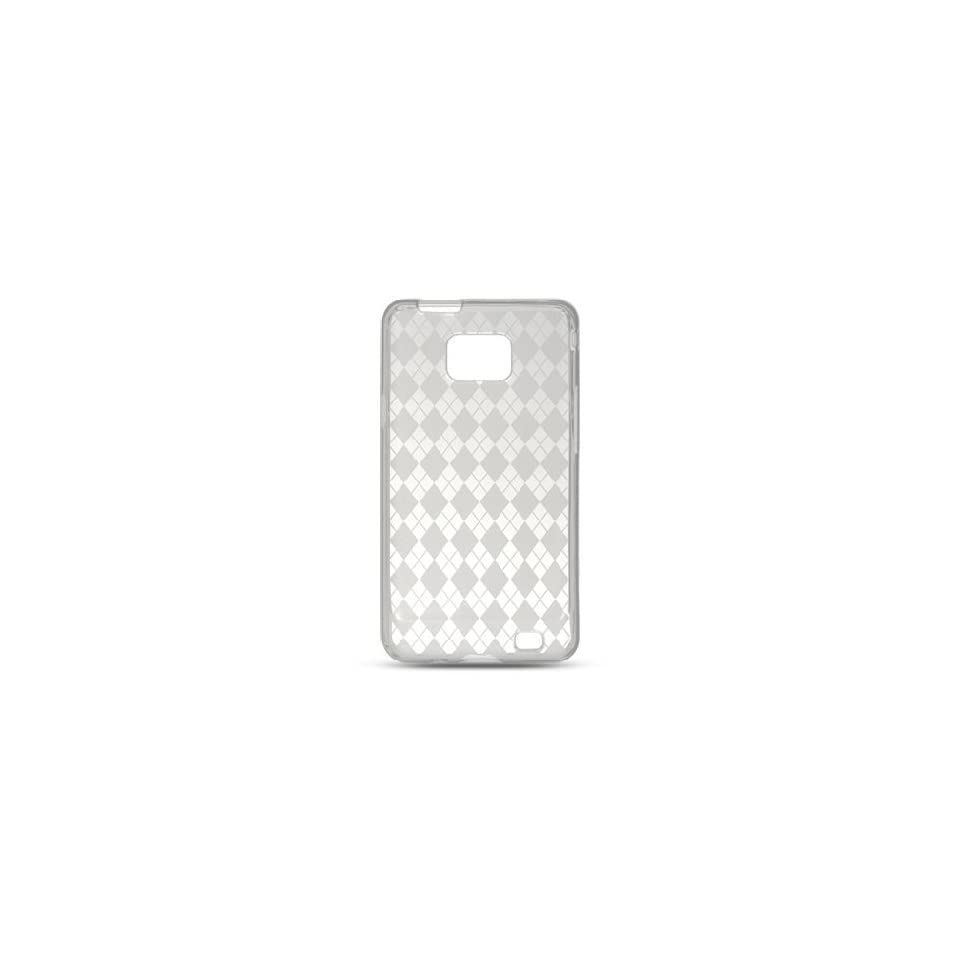 Transparent Clear Argyle Diamond Flex Cover Case for Samsung Galaxy S2 S II AT&T i777 SGH i777 Attain i9100 Cell Phones & Accessories