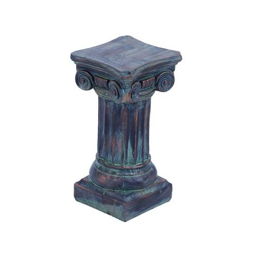 Deco 79 50506 polystone decorative pedestal statue 8 by 17 inch - Statue decorative interieur ...