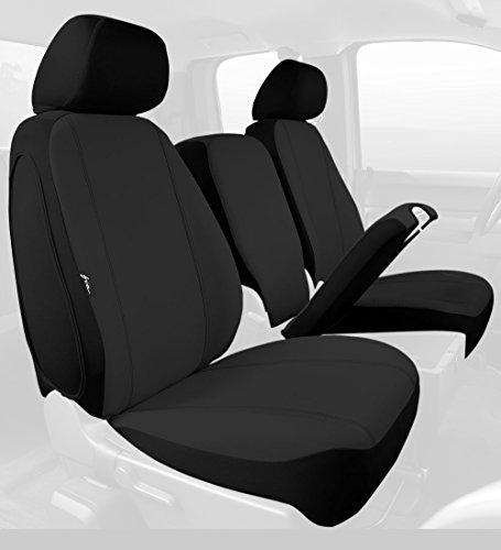 Fia SP88-30 BLACK Custom Fit Front Seat Cover Split Seat 40/20/40 - Poly-Cotton, (Black) (Silverado Custom Console compare prices)