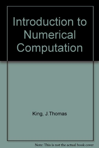 Introduction to Numerical Computation PDF