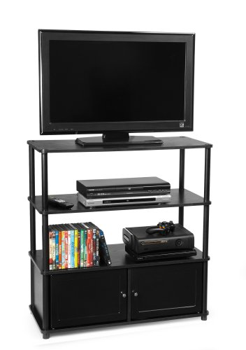 Convenience Concepts 151239 Highboy TV Stand for Flat Panel TV's up to 37-Inch or 60-Pounds picture