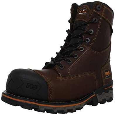 Timberland PRO Men's Boondock Waterproof Work Boot,Brown,7 M US