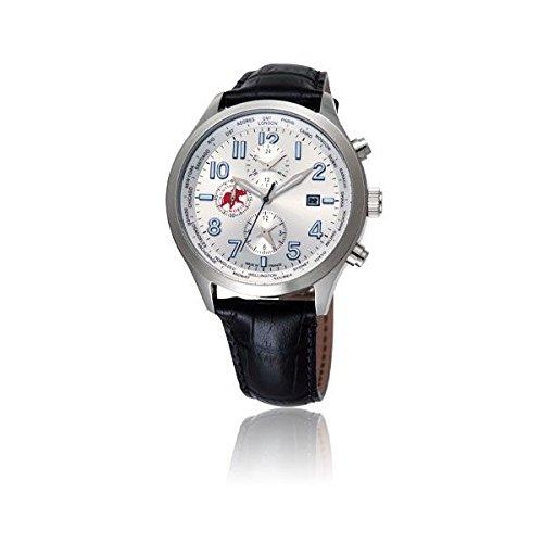 [ハンティングワールド]HUNTING WORLD 腕時計 タイムハンター シルバーダイアル ワールドタイム メンズサイズ [並行輸入品]