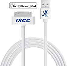 iXCC ® Apple certified 10ft 30 pin iPhone4/4s Cable White EXTRA LONG USB SYNC Cable Charger Cord [30pin Cable]