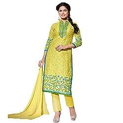 Pari Presents Yellow Coloured Dress Material
